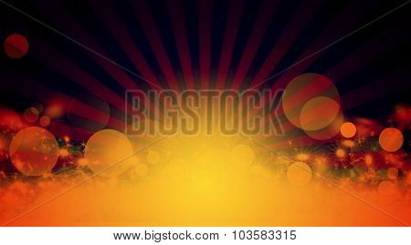 Sunbeams, abstract orange background