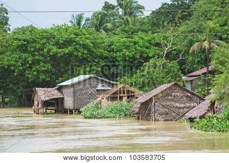 Monsoon Flooding In Myanmar 2015