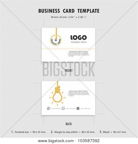 Abstract Creative Business Cards Design Template, Size 90Mmx55Mm (3.54 In X 2.165 In). Name Cards Sy