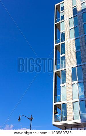 A fragment of modern building exterior in Washington DC USA.