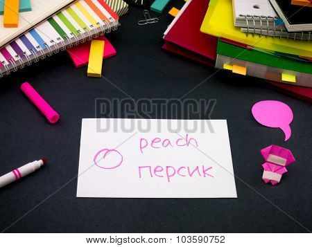 Learning New Language Making Original Flash Cards; Russian