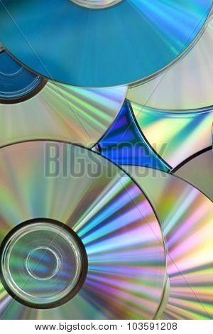Pile Of Few Compact Discs Cd