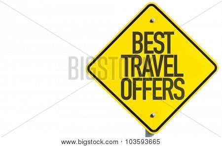 Best Travel Offers sign isolated on white background