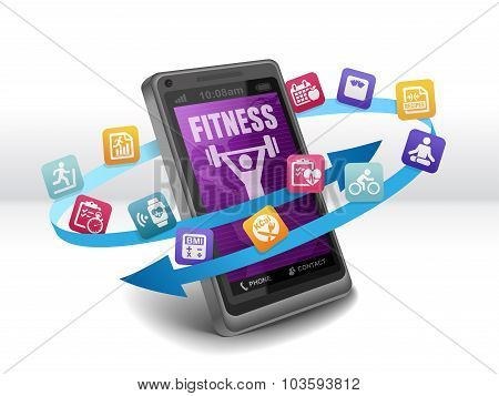 Health and Fitness Apps on Smartphone