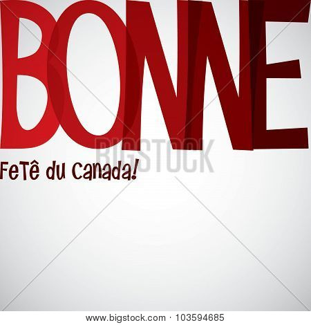 Typographic Canada Day Card In Vector Format.