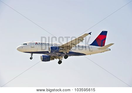 Delta Airlines Commercial Jet