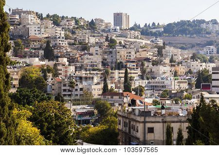 View Of The City Of Nazareth. Israel
