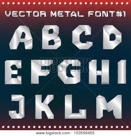 Steampunk Metal Alphabet For Design