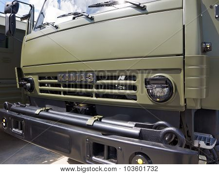 The cab of the military truck