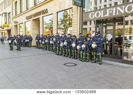Police On Standby To Assist At Anniversary Of German Unity In Frankfurt