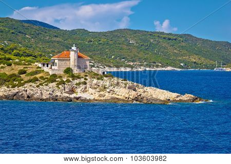 Island Of Vis Lighthouse View