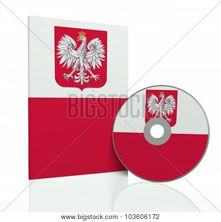 Cd Cover With Disc With Polish Flag