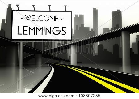 Welcome Lemmings In Conceptual Big City