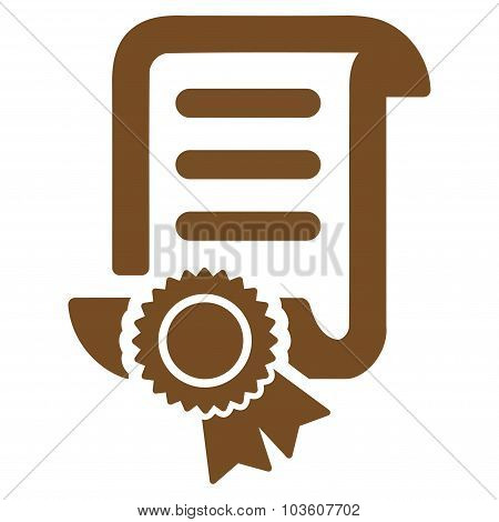 Certified Scroll Document Icon