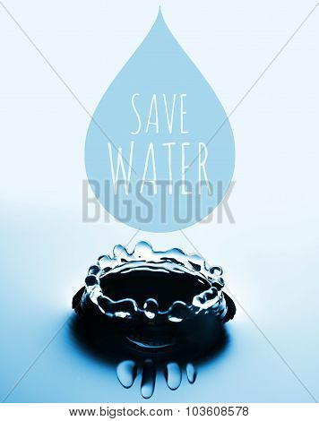 Save Water Concept With Drop And Splash