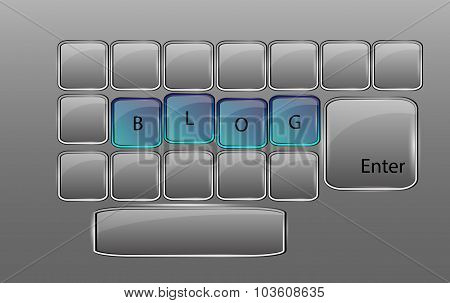 Vector Glass Keyboard With Sign Blog