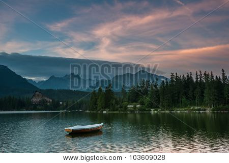 Landscape With Boats On A Lake