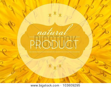 Natural Products Concept With Flower Macro Background