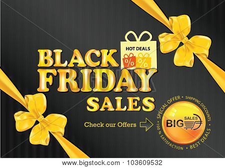 'Black Friday' advertising poster