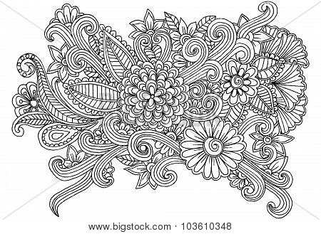 Hand drawing flowers