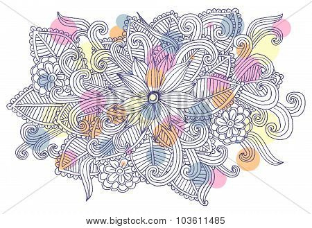 Doodle flowers