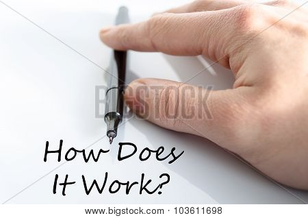 How Does It Work Text Concept