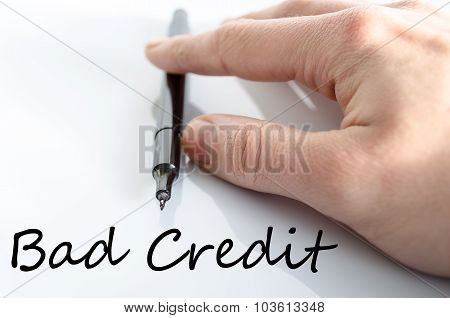 Bad Credit Text Concept