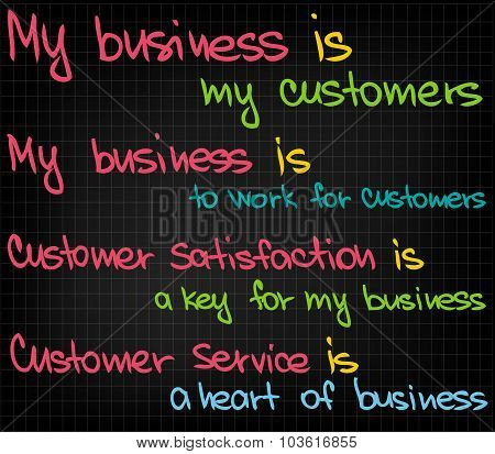My business is my customer