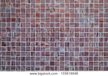 Background from small mosaic tiles