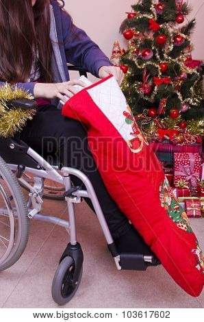 Disabled Girl at Christmas