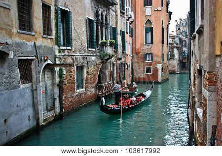 Gondola On A Venetian Canal