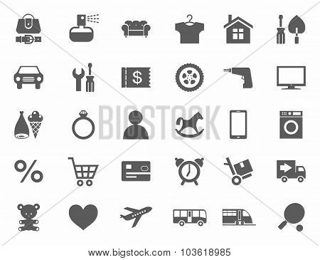 Icons, Online Store, Product ...