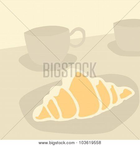 sweet croissant. baking breakfast