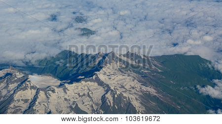 Aerial View Of Himalaya Mountains