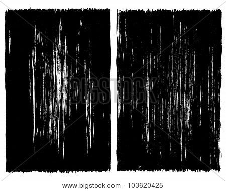 Grunge brush stroke background frames