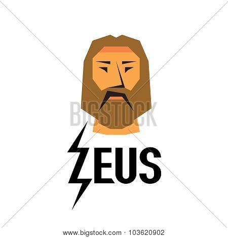 Zeus Head Logo With Type