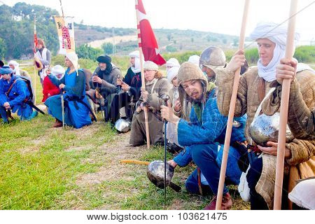 Crusader Army Line Up For Morning Prayer