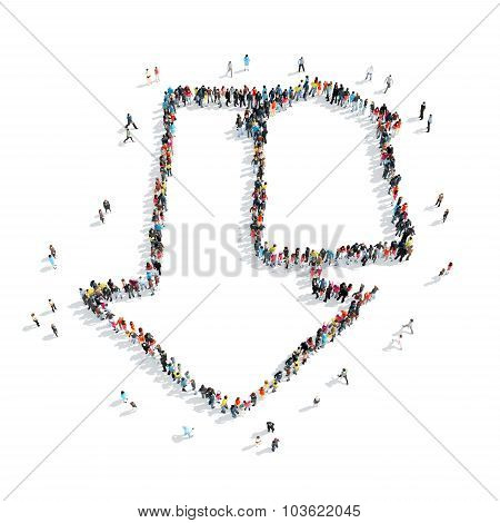 people  shape  arrow  cartoon