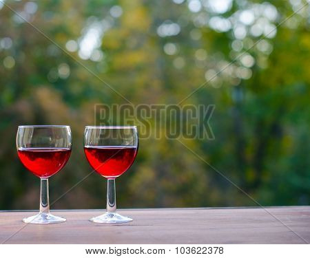 Still life concept. wine party outdoors