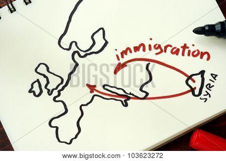 Syrian crisis emigrants.