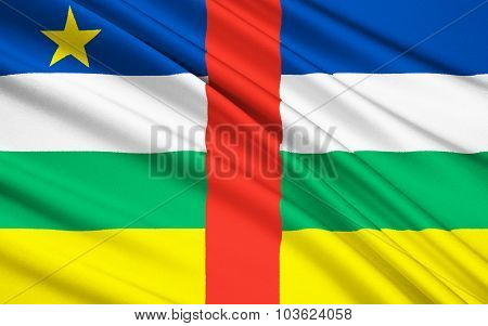 Flag Of Central African Republic, Bangui (car)