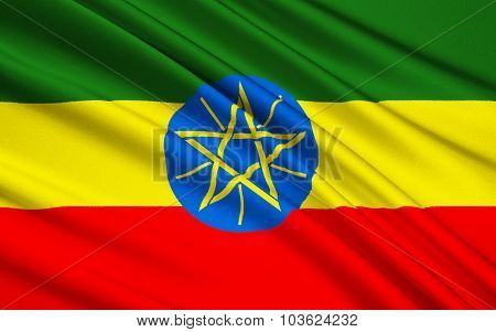 Flag Of Ethiopia, Addis Ababa