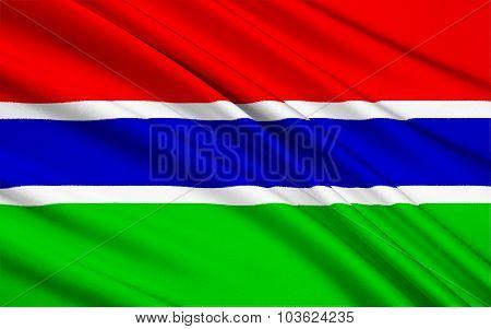 Flag Of Gambia, Banjul