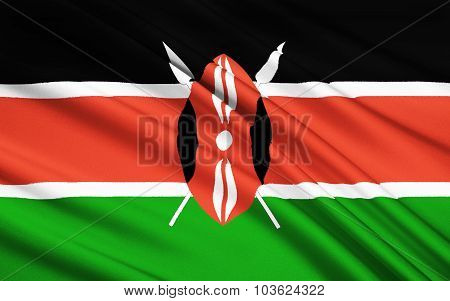 Flag Of Kenya, Nairobi