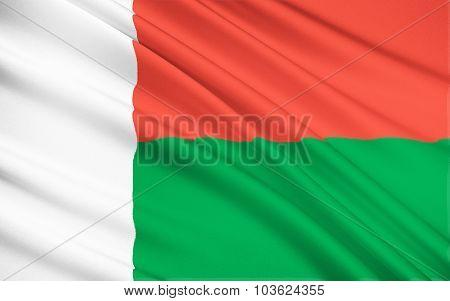 Flag Of Madagascar, Antananarivo