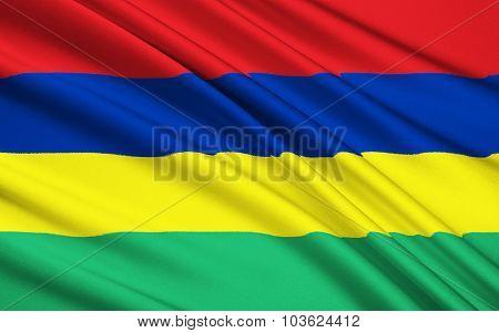 Flag Of Mauritius, Port Louis