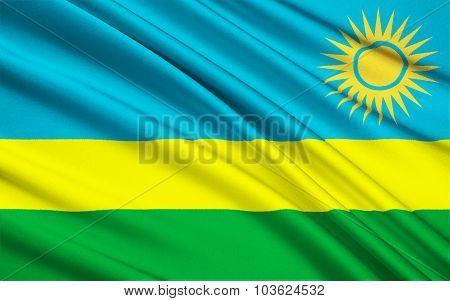 Flag Of Rwanda, Kigali