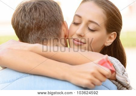 Nice couple embracing