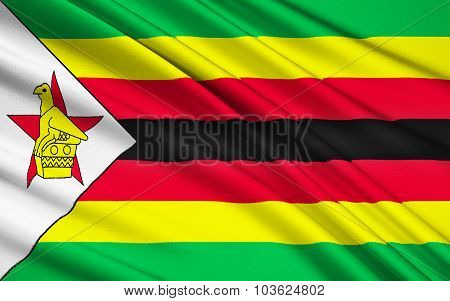 Flag Of Zimbabwe, Harare