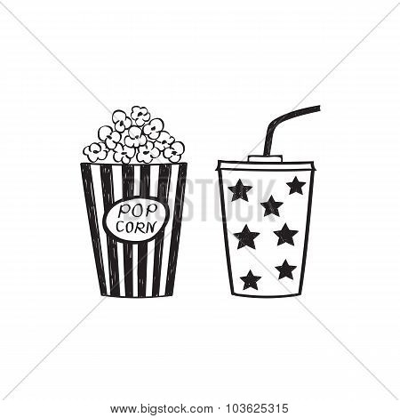 Popcorn and drink